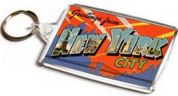 Greetings From New York City Jumbo Keyring